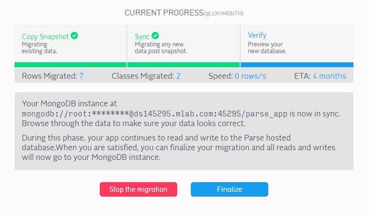 migrar Parse a mLab